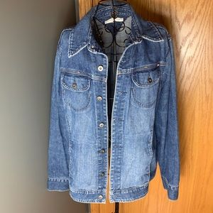 Women's Tommy Hilfiger jean jacket size 2XL